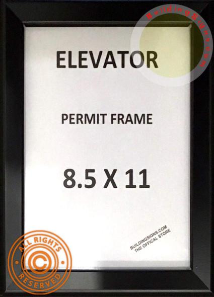 Elevator Permit FRAME (Black, Heavy Duty - Aluminum)