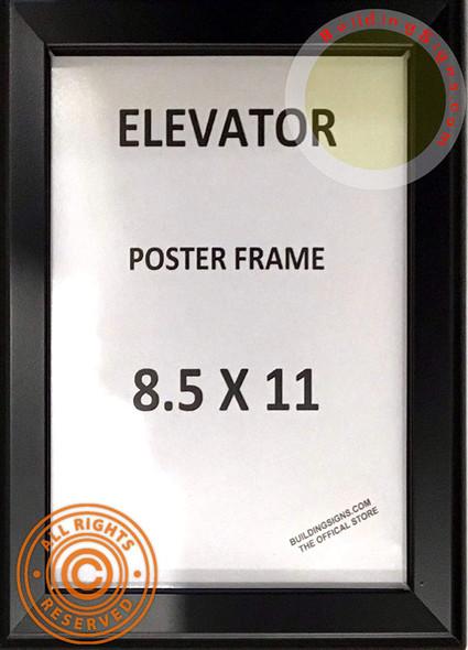 Elevator Poster FRAME (Black, Heavy Duty - Aluminum)