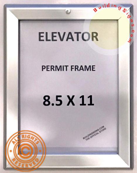 Elevator Permit Frame