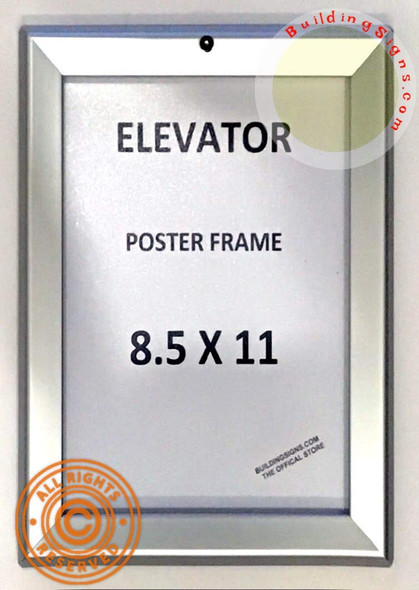 Elevator Poster Frame Elevator Advertisement FRAME (Lockable !!!, Silver, Heavy Duty, Aluminum)
