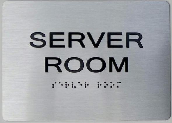Server Room Tactile Signs The sensation line Ada sign