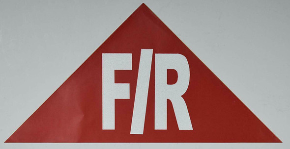 State Truss Construction Sign F/R Triangular ( Sticker)