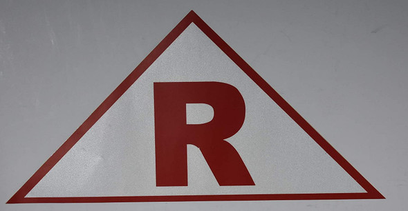 State Truss Construction Signage-R Triangular ( Sticker)