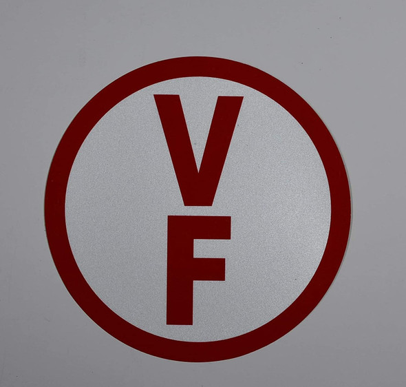 V-F Floor Truss Circular Sign ( Sticker)