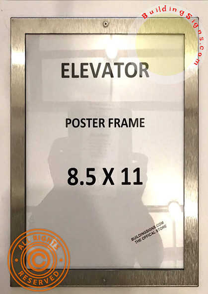 Elevator Poster FRAME (Lockable !!!, Stainless Steel, Heavy Duty-Commercial use)