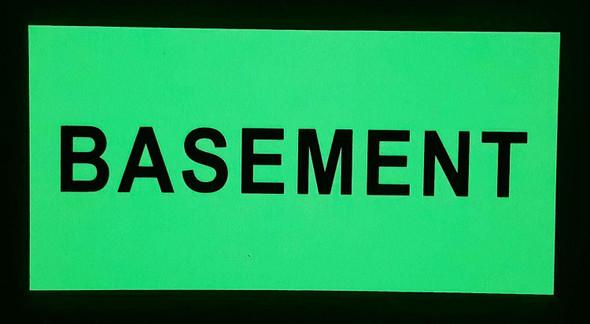 """BASEMENT HEAVY DUTY / GLOW IN THE DARK """"BASEMENT"""" SIGN HEAVY DUTY"""