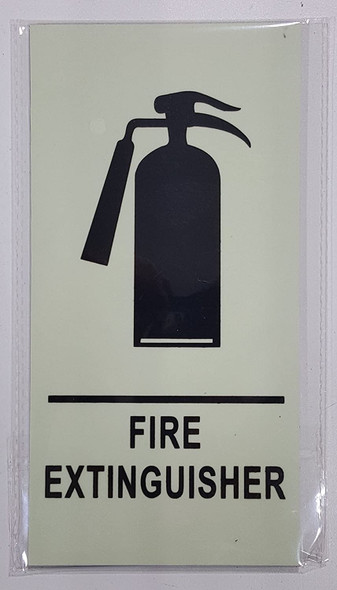 """FIRE EXTINGUISHER Sign HEAVY DUTY / GLOW IN THE DARK """"FIRE EXTINGUISHER"""" SIGN"""
