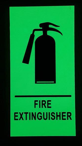 "FIRE EXTINGUISHER Signage/ GLOW IN THE DARK ""FIRE EXTINGUISHER"" Signage"