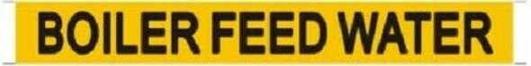 Pipe Marking- Boiler Feed Water Sign (Sticker Yellow)