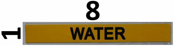 Set of 5 PCS - Pipe Marking- Water Sign