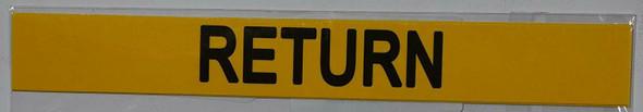Pipe Marking- Return Sign (Sticker Yellow)