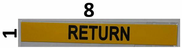 Set of 5 PCS - Pipe Marking- Return Sign