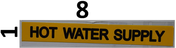 Pipe Marking- Hot Water Supply (Sticker Yellow)Signage