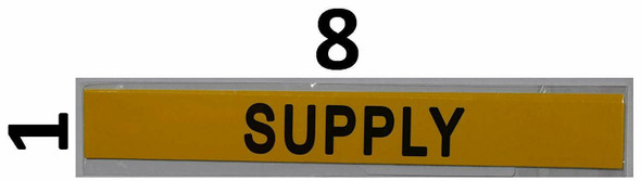 Pipe Marking- Supply Signage (Sticker Yellow)