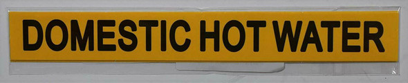 Pipe Marking- Domestic Water Sign (Sticker Yellow)