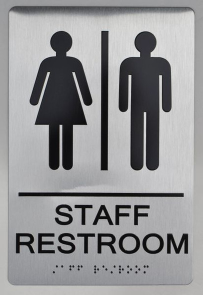 STAFF Restroom Sign ADA Sign -Tactile Signs  -The sensation line   Ada sign