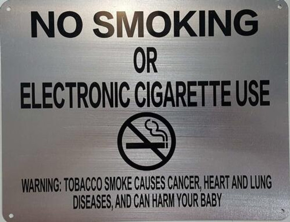 """LOT OF 5-NYC Smoke free Act Sign """"No Smoking or Electric cigarette Use"""""""