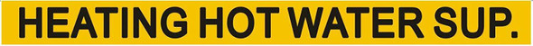 Pipe Marking- Heating HOT Water Supply Signage (Sticker Yellow)