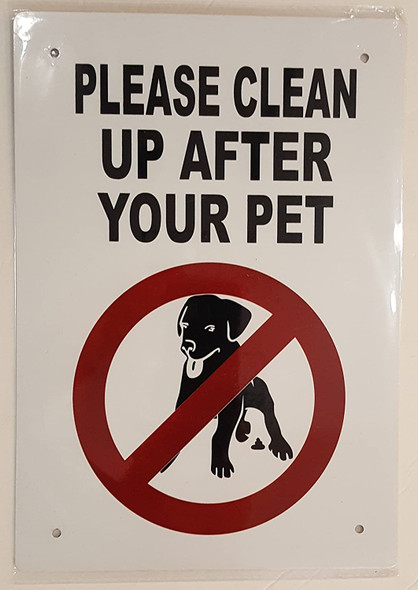 PLEASE CLEAN UP AFTER YOUR PET Signage