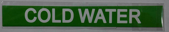 Pipe Marking- Cold Water (Sticker Green)
