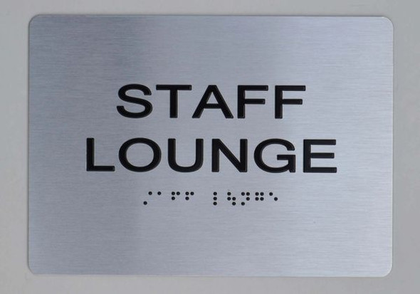STAFF LOUNGE Sign ADA-Sign -Tactile Signs The sensation line Ada sign