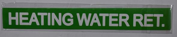 Set of 5 PCS - Pipe Marking- Heating Water