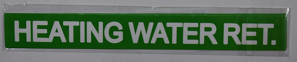 Pipe Marking- Heating Water Return (Sticker Green)Signage