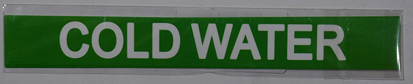 Pipe Marking- Cold Water Supply (Sticker Green)Signage