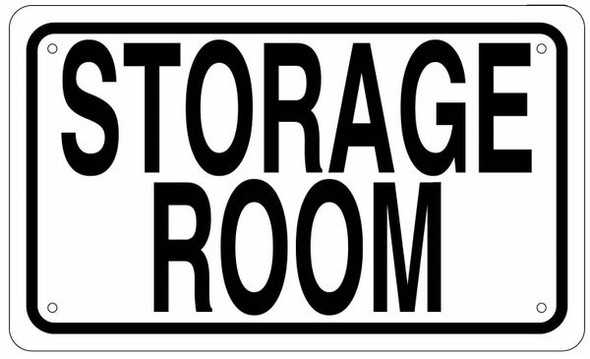 STORAGE ROOM SIGN -White BACKGROUND (ALUMINIUM )