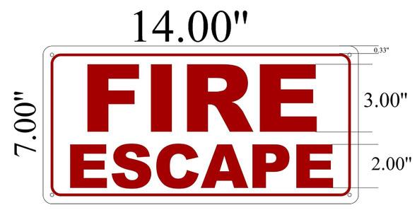 Fire Escape Signage