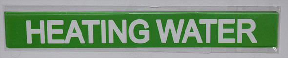 Pipe Marking- Heating Water (Sticker Green)Signage
