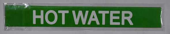 Pipe Marking- Hot Water (Sticker Green)