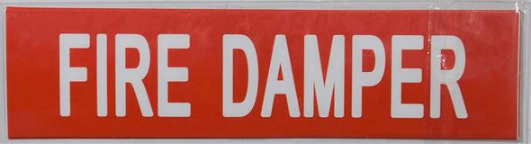 Pipe Marking- FIRE Damper Sign (Sticker )