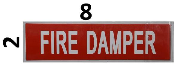 Pipe Marking- FIRE Damper Signage (Sticker )