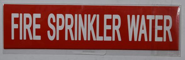 FIRE Sprinkler Water (Sticker )Signage