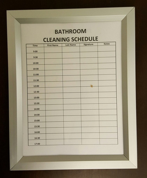 "Bathroom Inspection frame 8.5"""