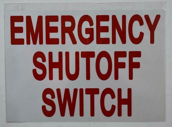 Emergency Shut-Off Switch Sticker