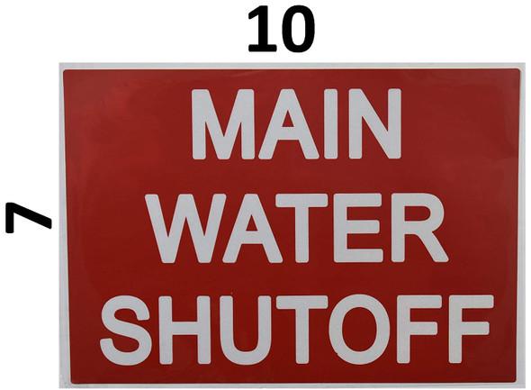 Main Water Shut-Off Sticker  Signage