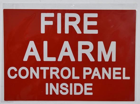 Fire Alarm Control Panel Inside Sticker  Signage