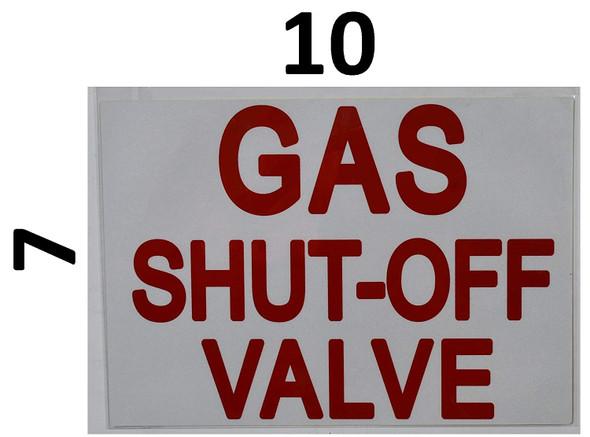 Gas Shut-Off Valve Sticker   Signage