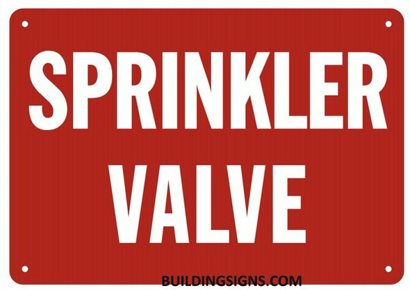 SPRINKLER VALVE Signage