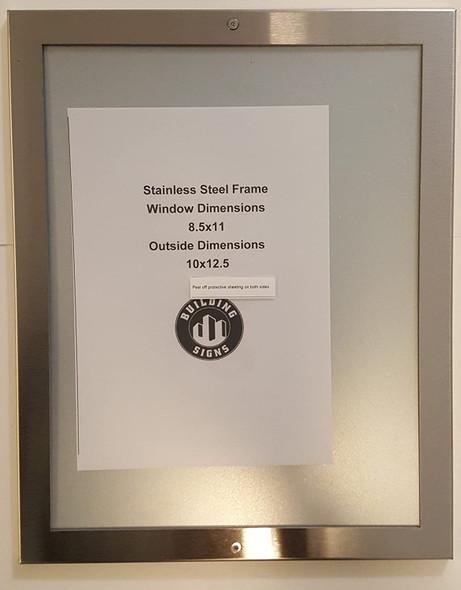 Elevator Notice frame stainless Steel