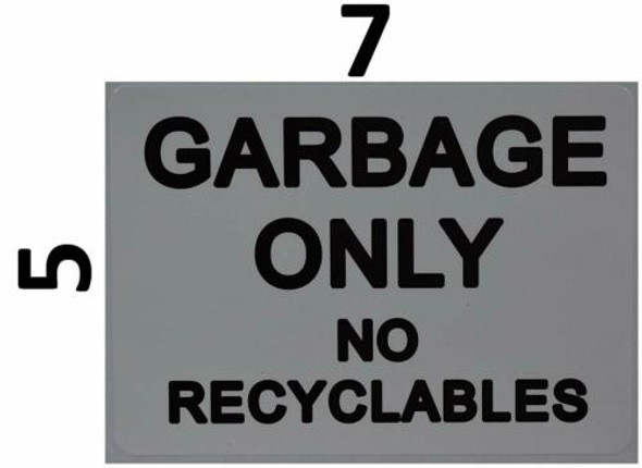 Garbage only no Recyclable Sticker (Sticker) Building Frame