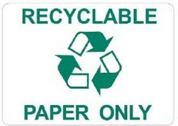 Recyclable Paper Only Sticker