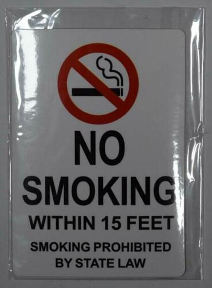 4 PCS -No Smoking Within 15 Feet Sticker