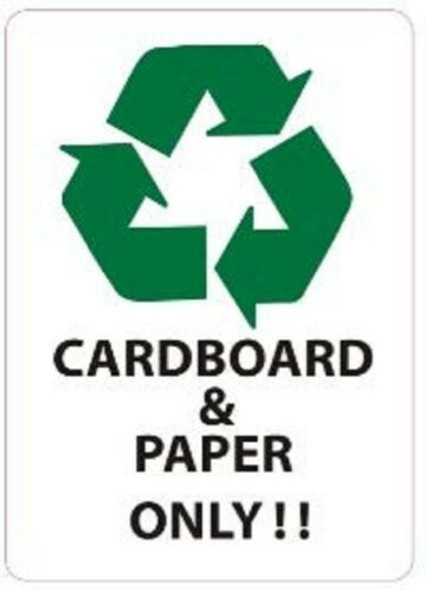 Cardboard and Paper ONLY Sticker (Sticker)