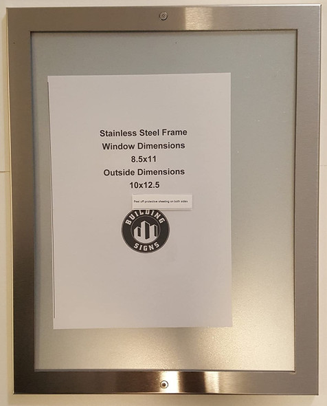 ANTI VANDALISM NOTICE FRAME  STAINLESS STEEL