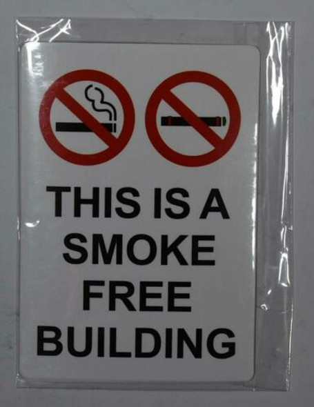 4 PCS -This is A Smoke Free Building Sticker