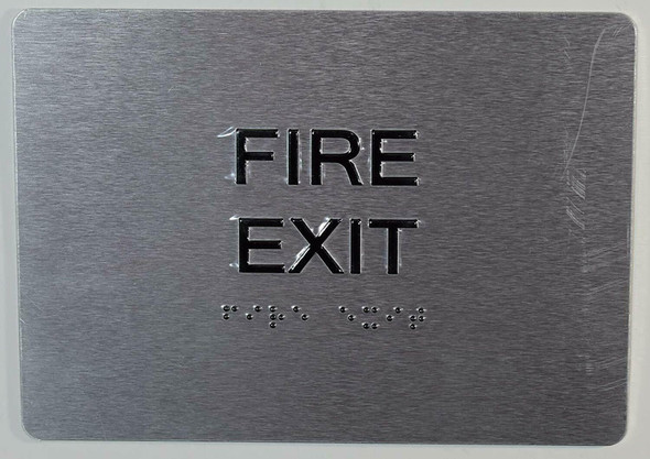 FIRE EXIT Sign with