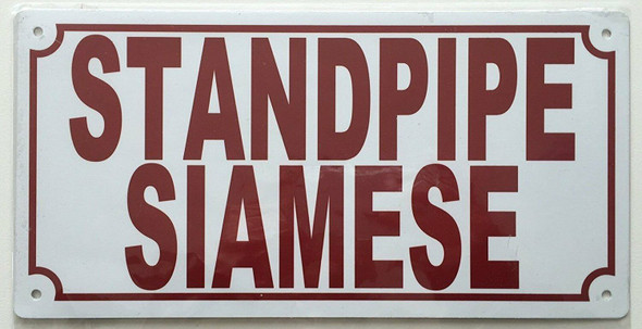 Standpipe Siamese Sign